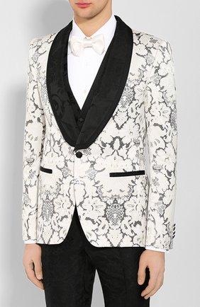 Мужской смокинг-тройка DOLCE & GABBANA черно-белого цвета, арт. GKN5MT/GEL58 | Фото 2