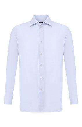 Мужская хлопковая сорочка ERMENEGILDO ZEGNA голубого цвета, арт. 701030/9RS0GS | Фото 1