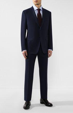 Мужская хлопковая сорочка ERMENEGILDO ZEGNA голубого цвета, арт. 701030/9RS0GS | Фото 2