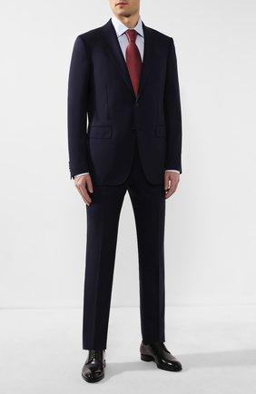 Мужской шерстяной костюм ERMENEGILDO ZEGNA темно-синего цвета, арт. 712599/221225 | Фото 1