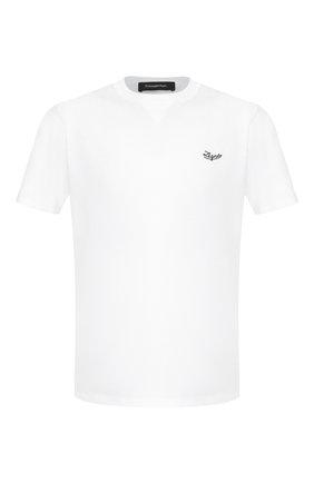 Мужская хлопковая футболка ERMENEGILDO ZEGNA белого цвета, арт. U7526/706R | Фото 1
