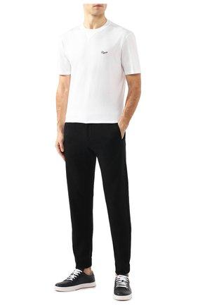 Мужская хлопковая футболка ERMENEGILDO ZEGNA белого цвета, арт. U7526/706R | Фото 2