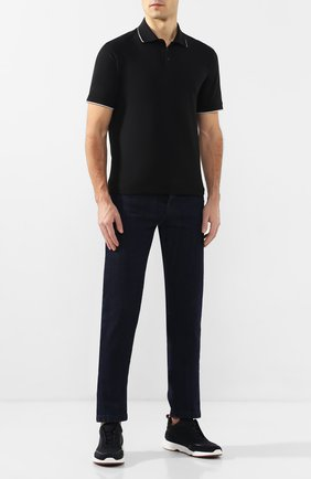 Мужское хлопковое поло Z ZEGNA черного цвета, арт. VU360/ZZ661 | Фото 2