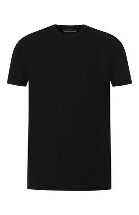 Мужская хлопковая футболка EMPORIO ARMANI черного цвета, арт. 3H1T87/1JEPZ   Фото 1