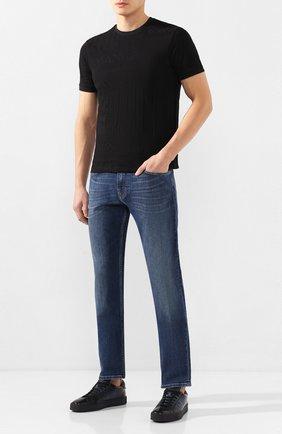 Мужская хлопковая футболка EMPORIO ARMANI черного цвета, арт. 3H1T87/1JEPZ   Фото 2
