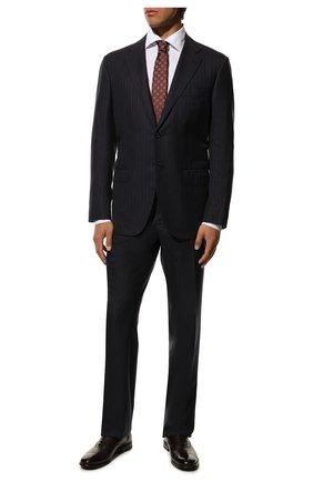 Мужские кожаные оксфорды H`D`S`N BARACCO темно-коричневого цвета, арт. 70302.3* | Фото 2 (Материал внутренний: Натуральная кожа; Статус проверки: Проверена категория; Стили: Классический)