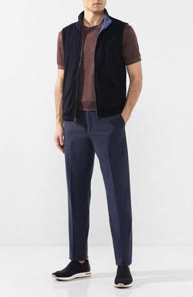 Мужские текстильные кроссовки 360 lp flexy active LORO PIANA темно-синего цвета, арт. FAI4815 | Фото 2