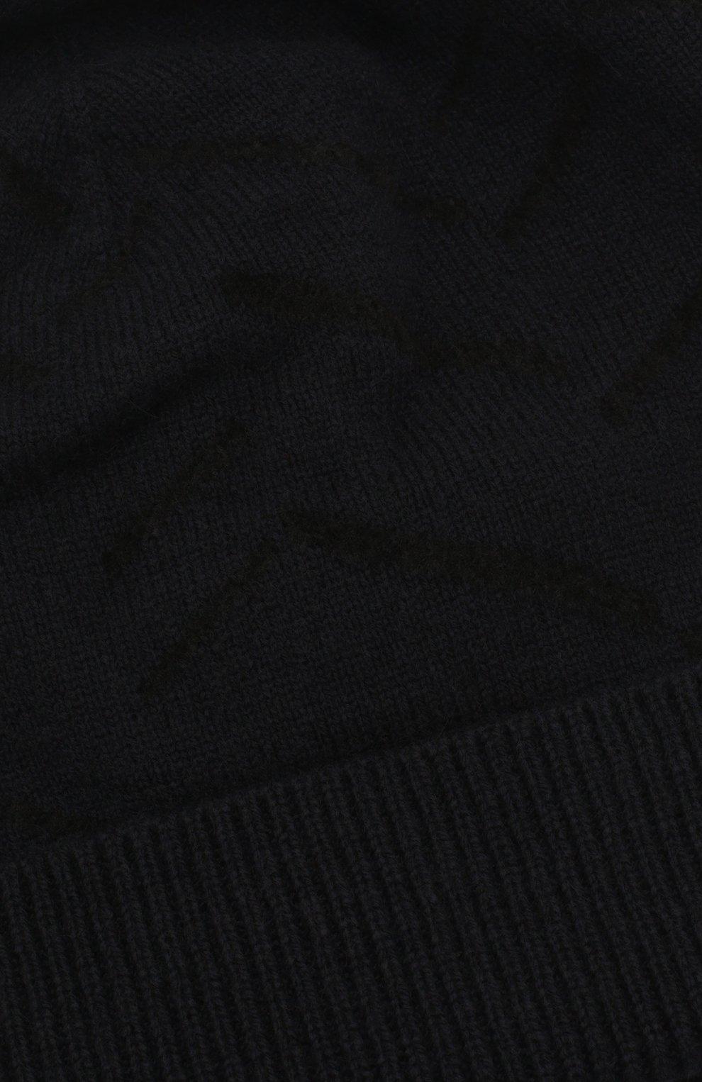Мужская шапка из смеси кашемира и хлопка GIORGIO ARMANI темно-синего цвета, арт. 747303/0P605 | Фото 3