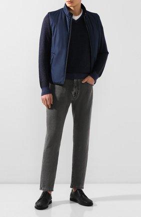 Мужской кожаные дерби ALDO BRUE темно-синего цвета, арт. AB8028J-MA   Фото 2