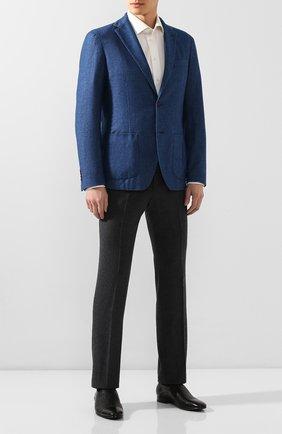 Мужские кожаные лоферы ALDO BRUE черного цвета, арт. AB4095J-MP   Фото 2