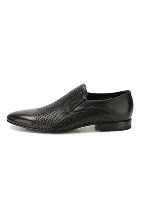 Мужские кожаные лоферы ALDO BRUE черного цвета, арт. AB4095J-MP   Фото 3