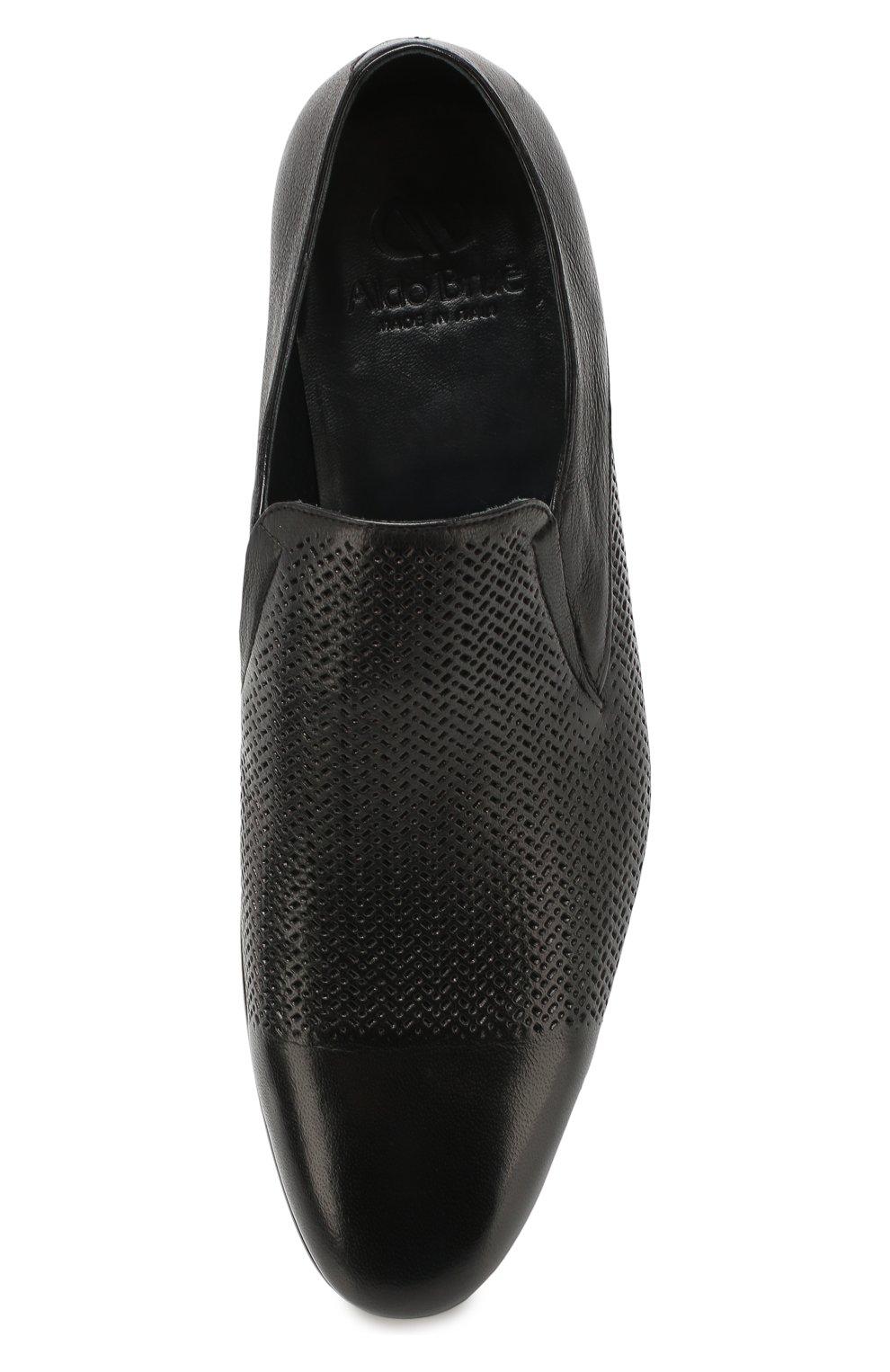 Мужские кожаные лоферы ALDO BRUE черного цвета, арт. AB4095J-MP   Фото 5