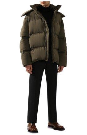Мужской кашемировые брюки BOTTEGA VENETA темно-серого цвета, арт. 598457/VKH90 | Фото 2