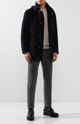 Мужская кашемировая куртка BRUNELLO CUCINELLI темно-синего цвета, арт. MT4976416 | Фото 2