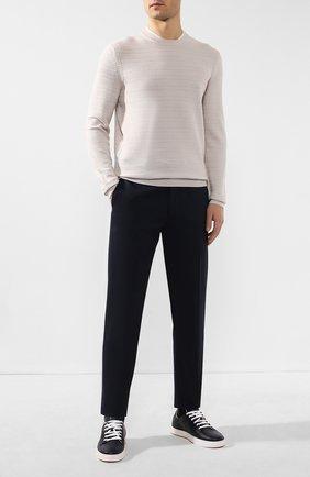Мужской хлопковые брюки RALPH LAUREN темно-синего цвета, арт. 798789668 | Фото 2