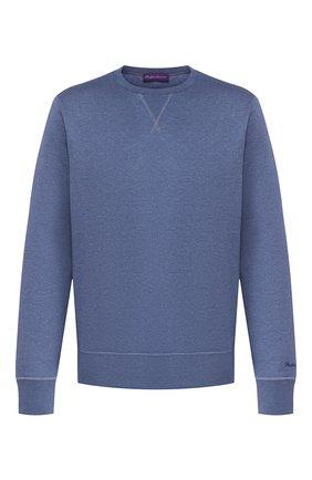 Мужской хлопковый свитшот RALPH LAUREN синего цвета, арт. 790750383 | Фото 1