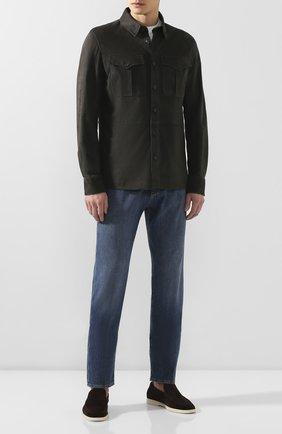 Мужская замшевая рубашка RALPH LAUREN темно-серого цвета, арт. 790654923 | Фото 2