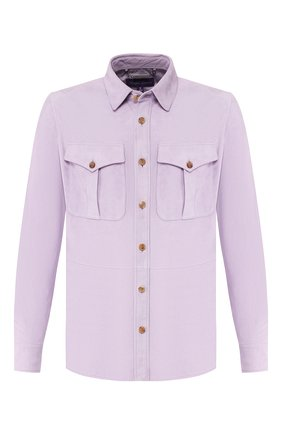 Мужская замшевая рубашка RALPH LAUREN сиреневого цвета, арт. 790654923 | Фото 1