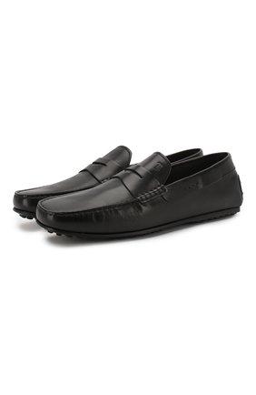 Мужские кожаные мокасины TOD'S черного цвета, арт. XXM0LR00011D90 | Фото 1