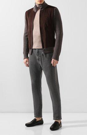 Мужские кожаные мокасины TOD'S черного цвета, арт. XXM0LR00011D90 | Фото 2