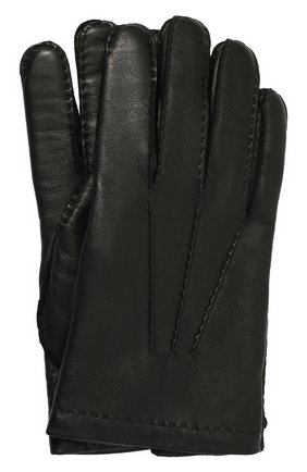 Мужские кожаные перчатки TOM FORD черного цвета, арт. TG0760-X38 | Фото 1