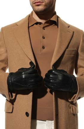 Мужские кожаные перчатки TOM FORD черного цвета, арт. TG0760-X38 | Фото 2