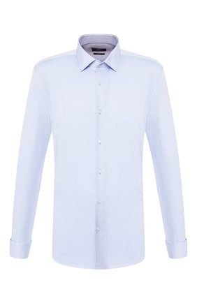 Мужская хлопковая сорочка BOSS голубого цвета, арт. 50421547 | Фото 1