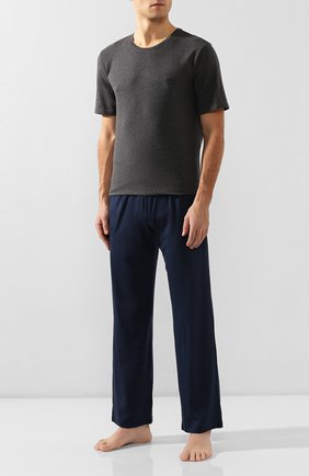 Мужские хлопковая футболка BOSS темно-серого цвета, арт. 50381904 | Фото 2