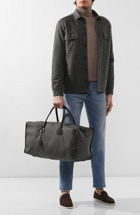 Мужская текстильная дорожная сумка MOREAU темно-серого цвета, арт. JP0L55JJ0BBNSTB | Фото 2