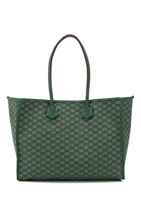 Мужская текстильная сумка-шопер MOREAU зеленого цвета, арт. JT0TLLJJ0TTRSTB | Фото 1