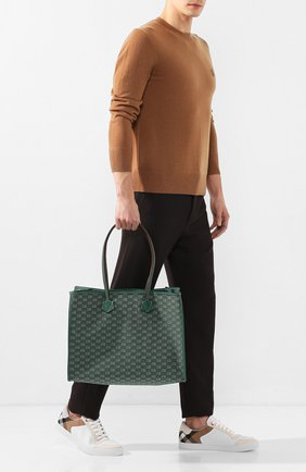 Мужская текстильная сумка-шопер MOREAU зеленого цвета, арт. JT0TLLJJ0TTRSTB | Фото 2