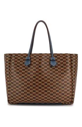Мужская двусторонняя кожаная сумка MOREAU коричневого цвета, арт. SVINLDIITTTRSTB | Фото 1
