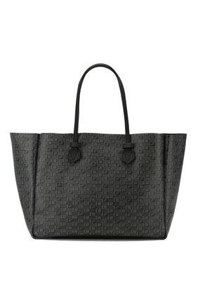 Мужская двусторонняя кожаная сумка MOREAU темно-серого цвета, арт. SVINLDIITTTRSTB | Фото 1