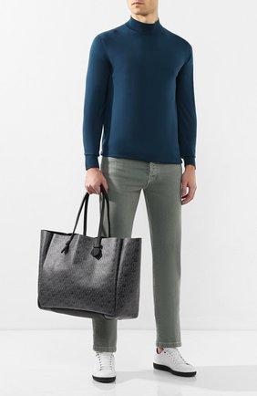 Мужская двусторонняя кожаная сумка MOREAU темно-серого цвета, арт. SVINLDIITTTRSTB | Фото 2