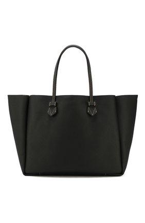 Мужская двусторонняя кожаная сумка MOREAU черного цвета, арт. SVINLDTTITTTSTB | Фото 1