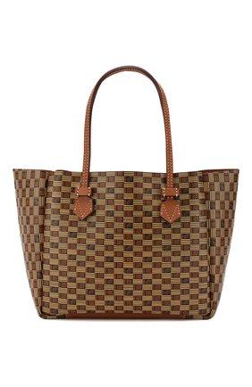 Мужская двусторонняя кожаная сумка MOREAU коричневого цвета, арт. SVINMDIITTTRSTB | Фото 1