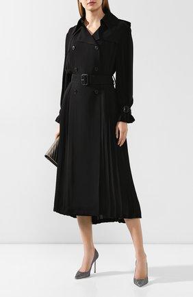 Женская туфли romy 100 JIMMY CHOO серого цвета, арт. R0MY 100/LAG | Фото 2