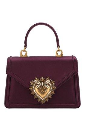 Женский сумка devotion small DOLCE & GABBANA бордового цвета, арт. BB6711/A7630 | Фото 1