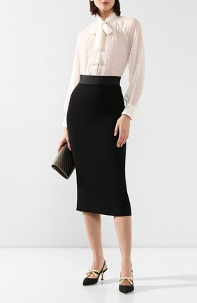 Женская текстильные туфли lori DOLCE & GABBANA черного цвета, арт. CG0373/AJ696 | Фото 2