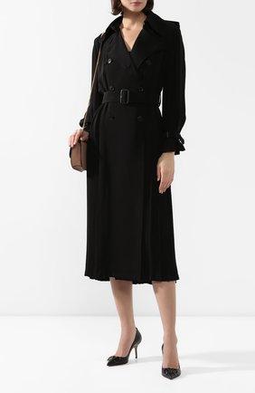Женская кожаные туфли valentino garavani vlogo VALENTINO черного цвета, арт. TW2S0R78/MZF | Фото 2