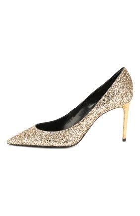 Женские туфли zoe SAINT LAURENT золотого цвета, арт. 602622/EXVM0   Фото 3
