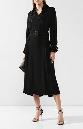 Женские кожаные босоножки lexi SAINT LAURENT черного цвета, арт. 606493/1N800 | Фото 2