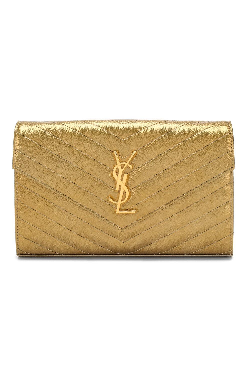 Женская сумка monogram classic SAINT LAURENT золотого цвета, арт. 377828/03X21   Фото 1