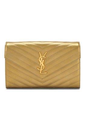 Женская сумка monogram classic SAINT LAURENT золотого цвета, арт. 377828/03X21 | Фото 1