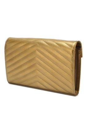 Женская сумка monogram classic SAINT LAURENT золотого цвета, арт. 377828/03X21   Фото 3
