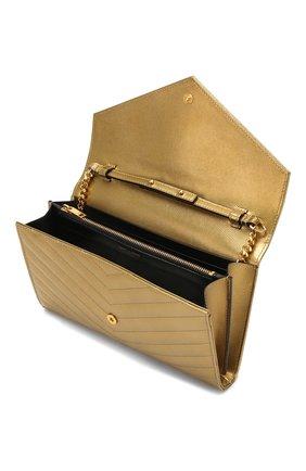 Женская сумка monogram classic SAINT LAURENT золотого цвета, арт. 377828/03X21   Фото 4