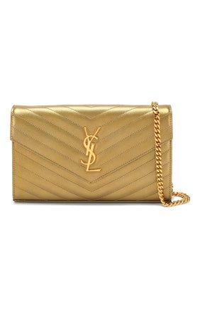 Женская сумка monogram classic SAINT LAURENT золотого цвета, арт. 377828/03X21   Фото 5