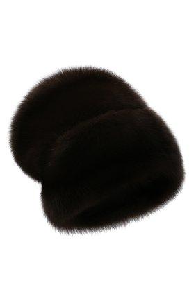Женская шапка из меха соболя KUSSENKOVV коричневого цвета, арт. 063500003682   Фото 1 (Материал: Натуральный мех)