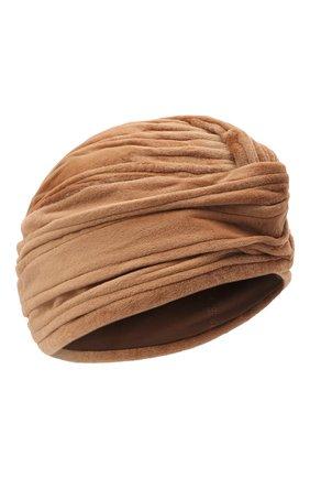 Женская шапка из меха норки KUSSENKOVV коричневого цвета, арт. 140110005272   Фото 1 (Материал: Натуральный мех)