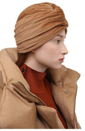 Женская шапка из меха норки KUSSENKOVV коричневого цвета, арт. 140110005272   Фото 2 (Материал: Натуральный мех)